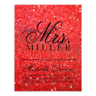 Invite - Lit Red Glit Fab future Mrs. Bridal