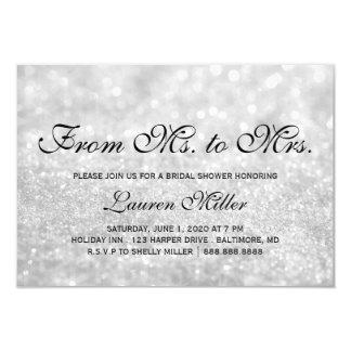 Invite - Lit Silver Glit Fab Ms.Mrs. Bridal Shower