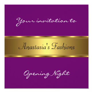 Invite Opening Night Purple Gold Invitation