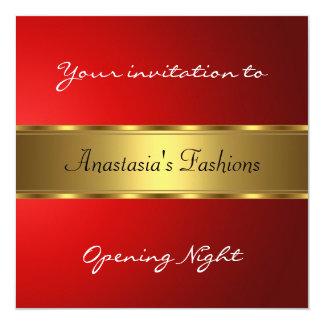 Invite Opening Night Red Gold Custom Invitation