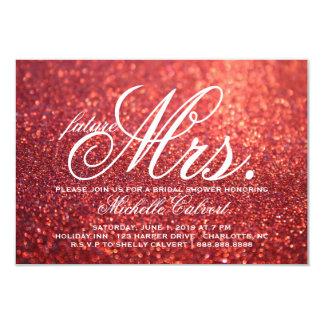 Invite - Red Glit Bridal Shower future Mrs.