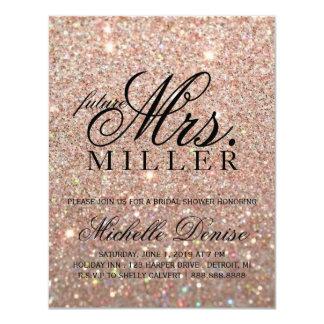 Invite - Rose Gold Glit Fab future Mrs. Bridal