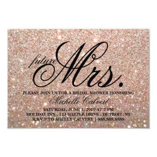 Invite-Rose Gold Glitter BridalShower future Mrs. Card