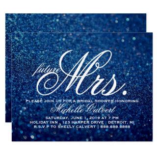 Invite - Royal Blue Bridal Shower future Mrs. 2