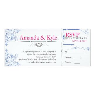INVITE & RSVP COMBINED | Cool Romance