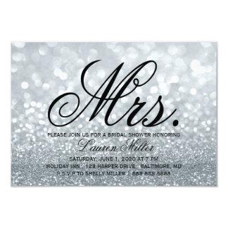Invite - Silver Glit Fab Mrs. Bridal Shower