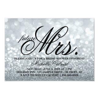 Invite - Silver Glitter Fab Shower future Mrs