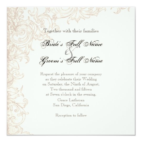 Invite, Square - Wings of Love Wedding Collection Card