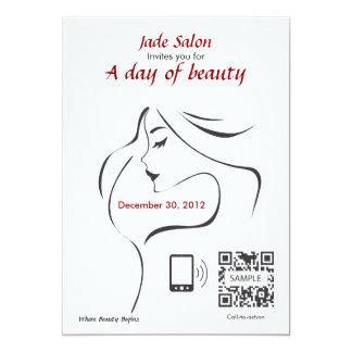 "Invite Template Hair Salon 5"" X 7"" Invitation Card"