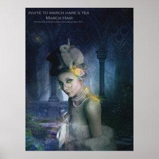 Invite to March Hare's Tea - Mach Hare Poster