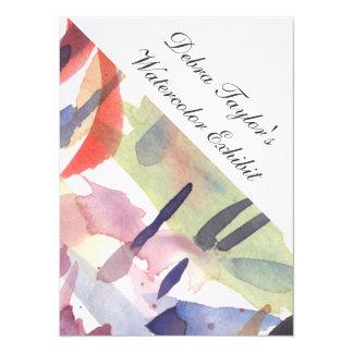 Invite - Watercolor Exhibit