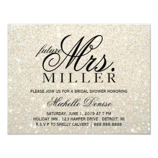 Invite - White Gold Glit Fab future Mrs. Bridal 2