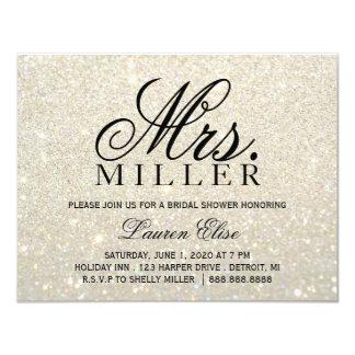Invite - White Gold Glit Fab Mrs. Bridal Shower 2