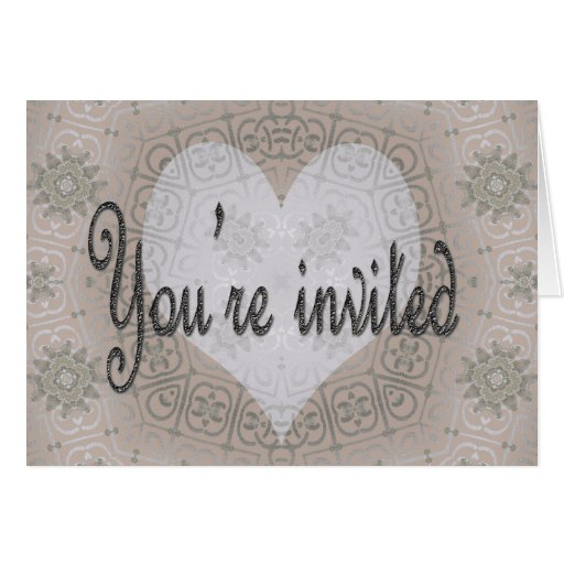 invited greeting card