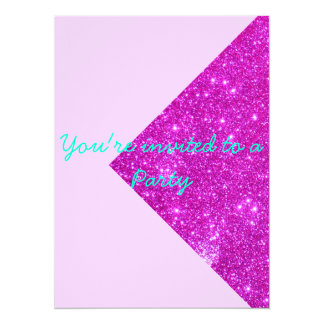 Invited to a Party Sparkle Pink Invitations 1