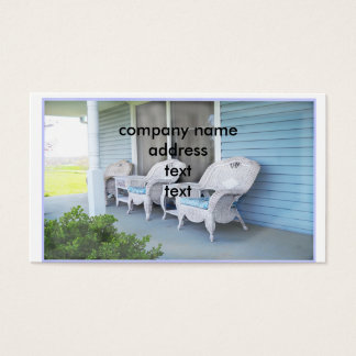 Inviting Front  Porch Business Card