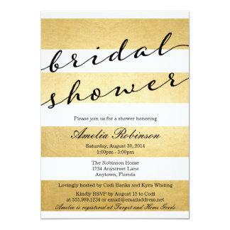 """Invition nupcial elegante elegante de la ducha de invitación 5"""" x 7"""""""