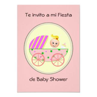 """Invito de Te a la fiesta de bienvenida al bebé del Invitación 5"""" X 7"""""""