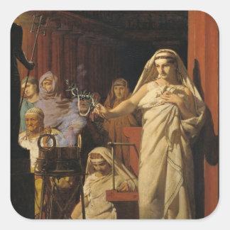Invocación de Neptuno, 1866 Pegatina Cuadrada
