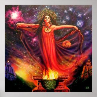 Invocación por el iris de Lisa Poster