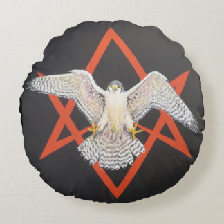Invocation of Horus Round Pillow
