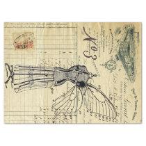 Invoice Collage Tissue Paper