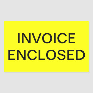 Invoice Enclosed Shipping Label Rectangular Stickers