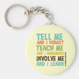 Involve Me Inspirational Quote Basic Round Button Keychain