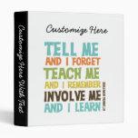 Involve Me Inspirational Quote Binder