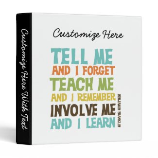 Involve Me Inspirational Quote Binders