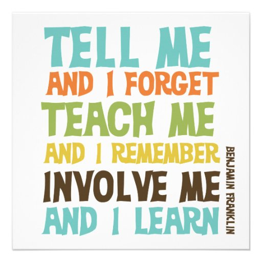 Involve Me Inspirational Quote Personalized Announcements