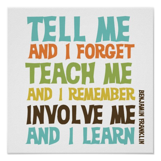 Image result for tell me and i forget quote