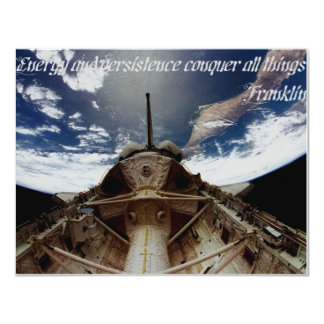 """INVT card, """"Energy and ...conquer all things"""" 4.25"""" X 5.5"""" Invitation Card"""