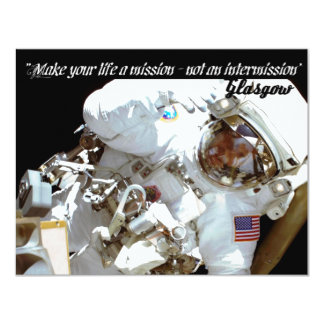 """INVT card, """"Make your life a mission - not an..."""" 4.25"""" X 5.5"""" Invitation Card"""