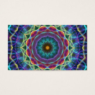 Inward Flower  kaleidoscope Business Card