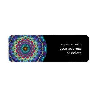 Inward Flower  kaleidoscope Return Address Label