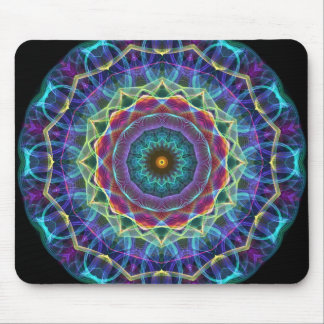 Inward Flower  kaleidoscope Mouse Pad