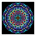 Inward Flower  kaleidoscope Posters