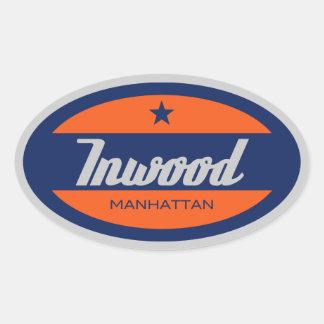 Inwood Oval Sticker