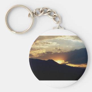 Inyo at Sunset Basic Round Button Keychain