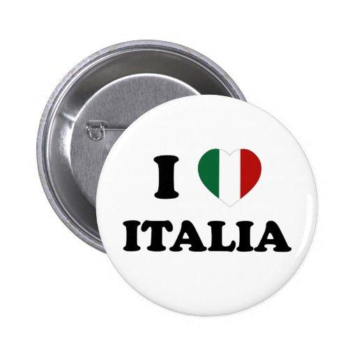 Io Amo Italia 2 Inch Round Button