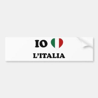 Io Amo Italia Pegatina Para Auto