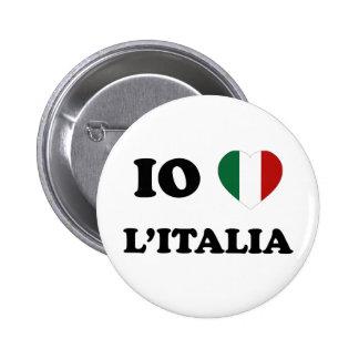 Io Amo Italia Pin Redondo 5 Cm
