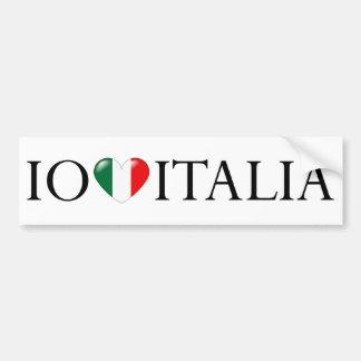 """""""Io amo Italia"""" sticker Car Bumper Sticker"""