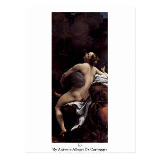 Io By Antonio Allegri Da Correggio Postcard