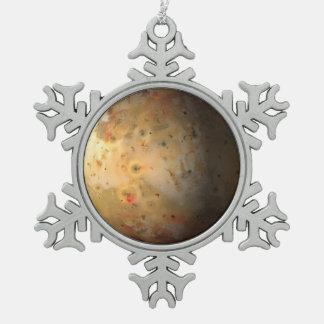 Io Snowflake Pewter Christmas Ornament