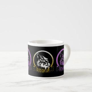 Io sto con i lupi espresso cup