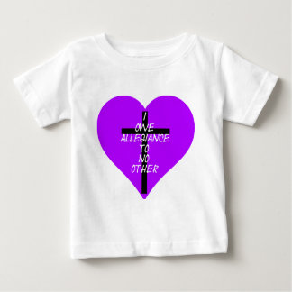 IOATNO Purple Heart and Cross Baby T-Shirt