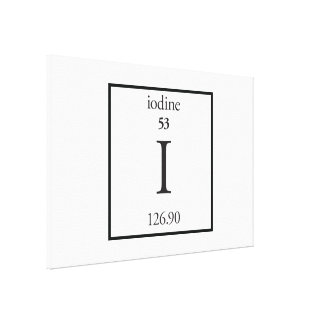 Iodine Gallery Wrap Canvas