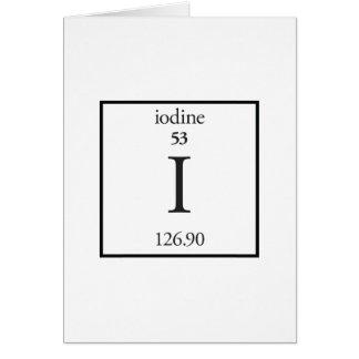 Iodine Greeting Cards